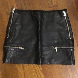 Zara Leather Mini Skirt Sz.Small